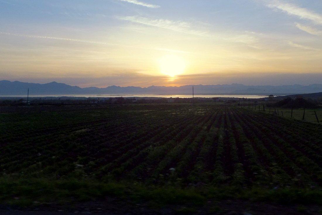 A beautiful sunset in Albania