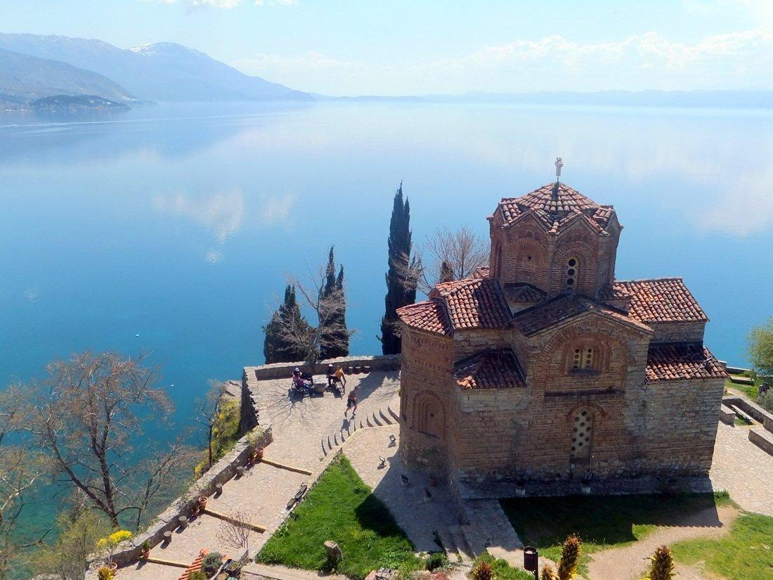 The beautiful church of Sveti Jovan overlooking Lake Ohrid
