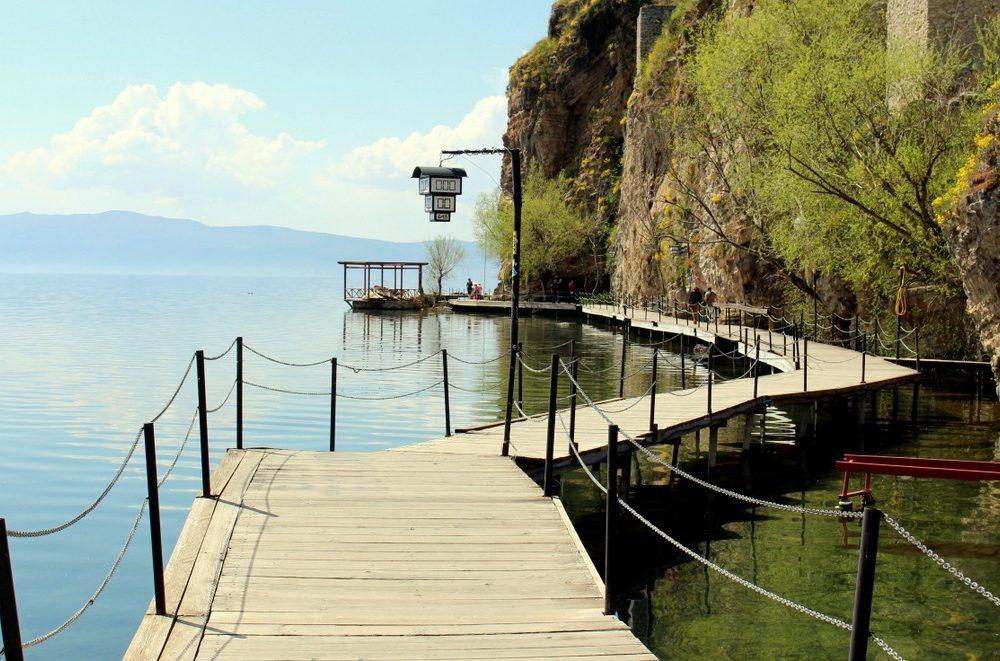 Lake Ohrid and the Church of Sveti Jovan