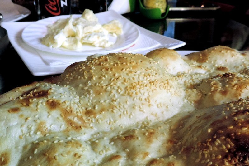 Sar cheese with Pita bread, food in Kosovo
