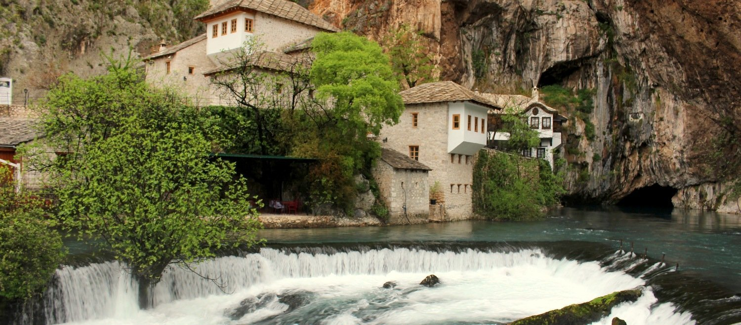 The Dervish Monastery at Blagaj close to Mostar