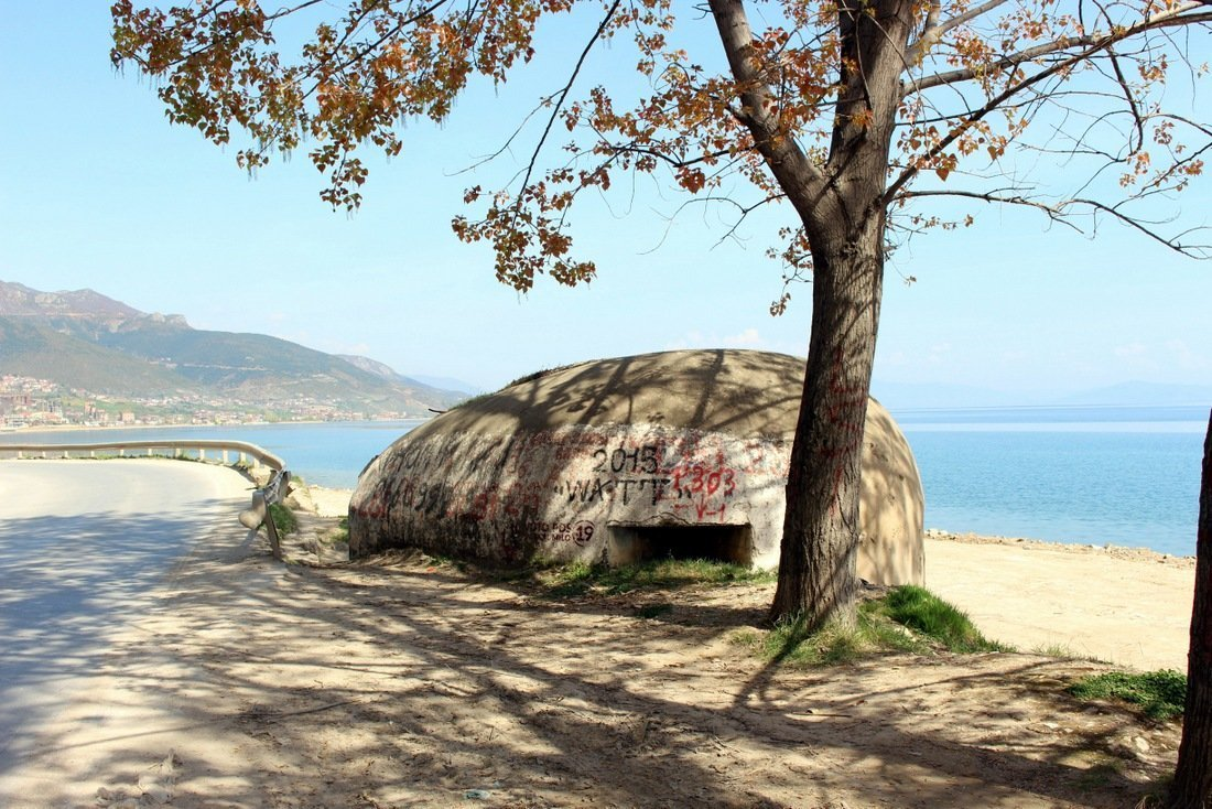 Bunkers are visible everywhere in Albania - Albania travel guide