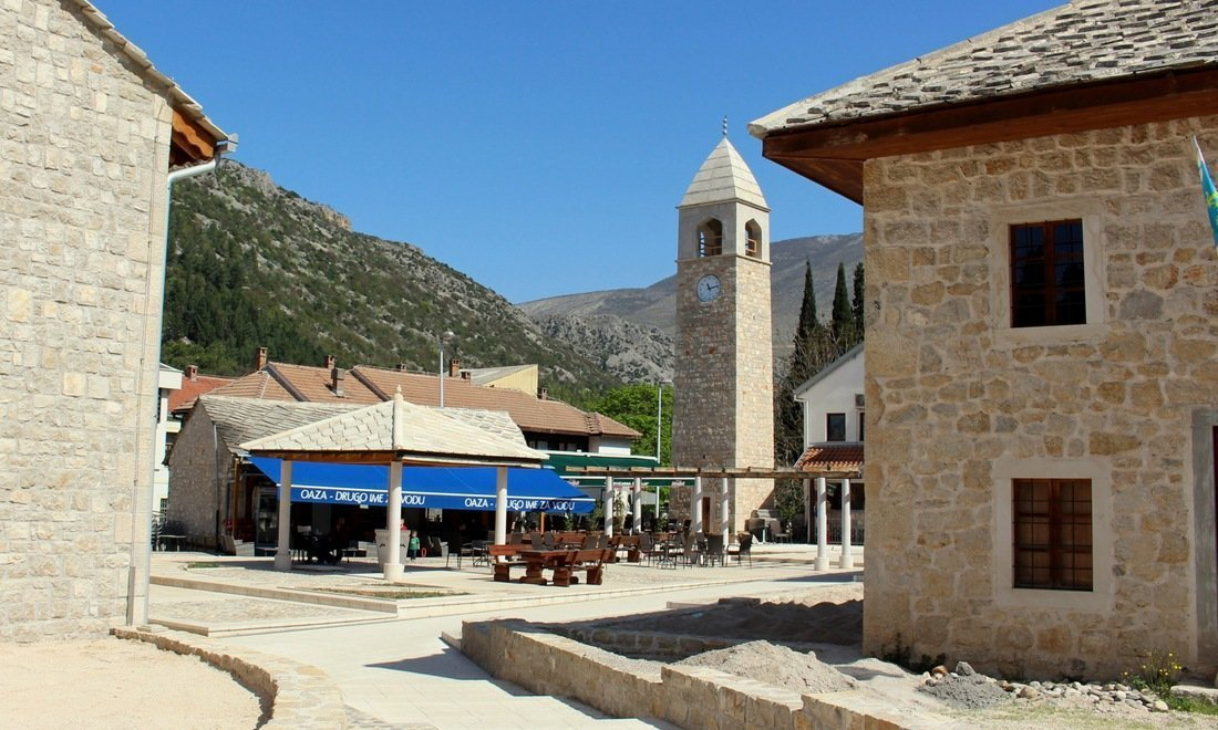 The town centre of Stolac, a sleepy town in southern Bosnia