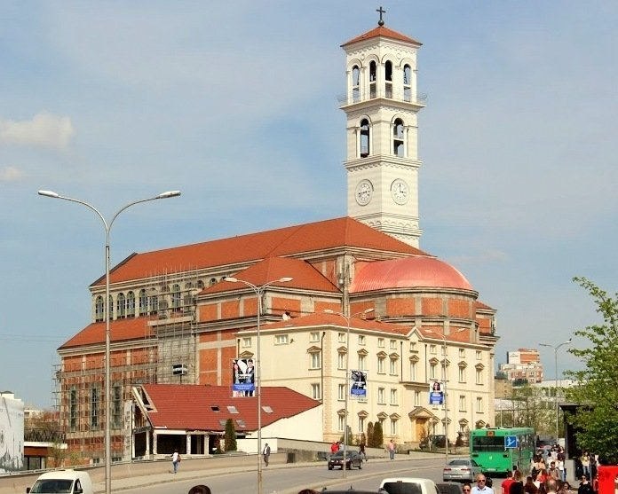 Mother Therese Cathedral in Pristina, Kosovo