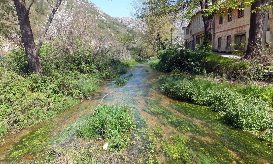 The river running through Stolac