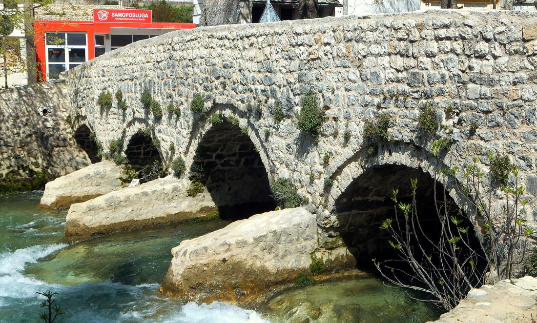 The little stone bridge or Inat Cuprija in Stolac
