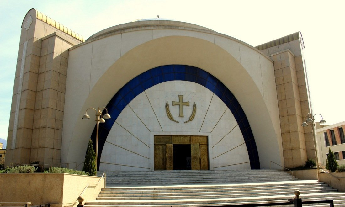 The Greek Orthodox cathedral in Tirana