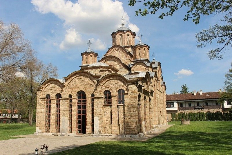 The Serbian Orthodox monastery of Gračanica near Pristina in Kosovo