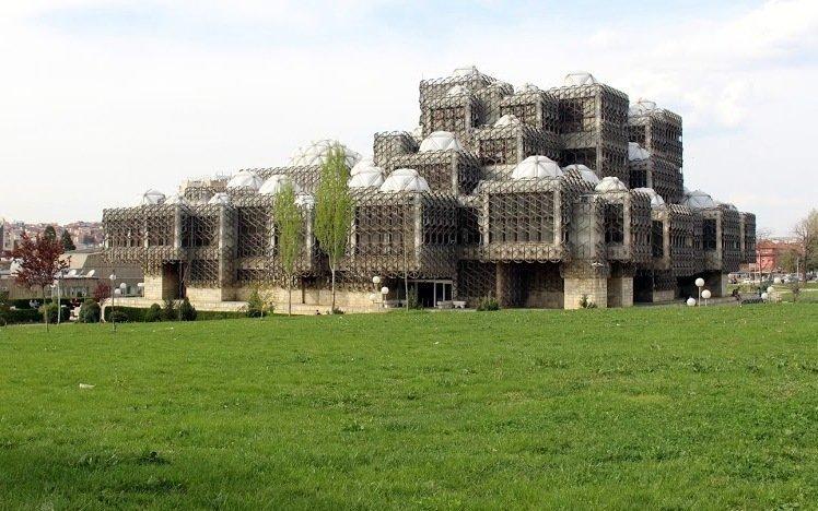 The National Library in Pristina Kosovo