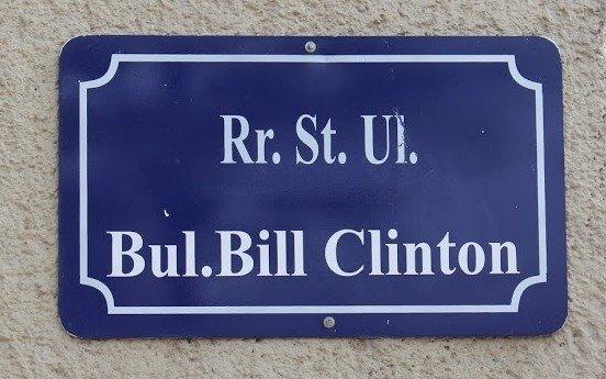 A street name in Pristina, Kosovo