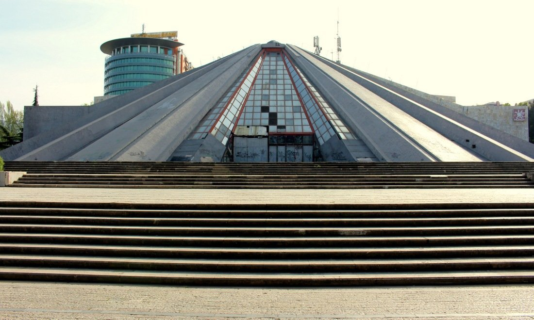 The Piramida, a dilapidated monument in Tirana