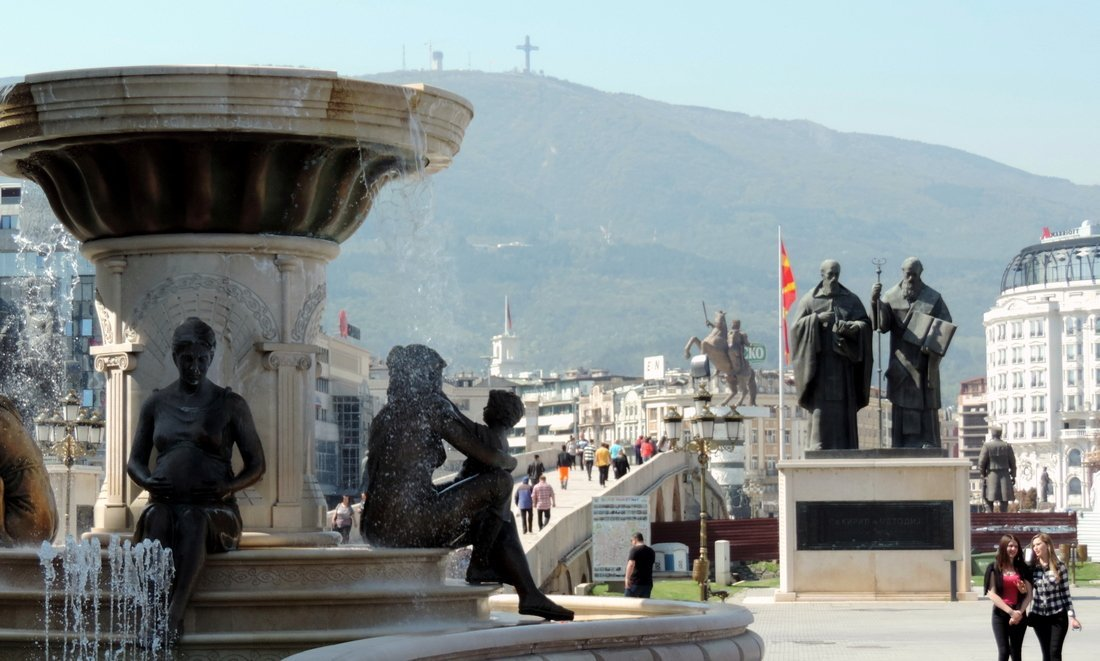 So many monuments in one photo! - Visit Skopje