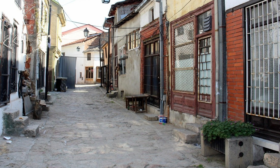 A derelict area in the old part of Skopje