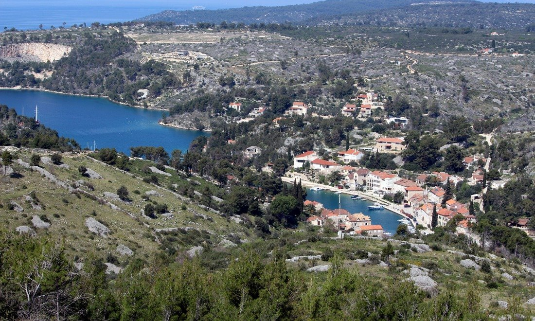 A view of Milna fishing village on the island of Brač - Day trip to Brač