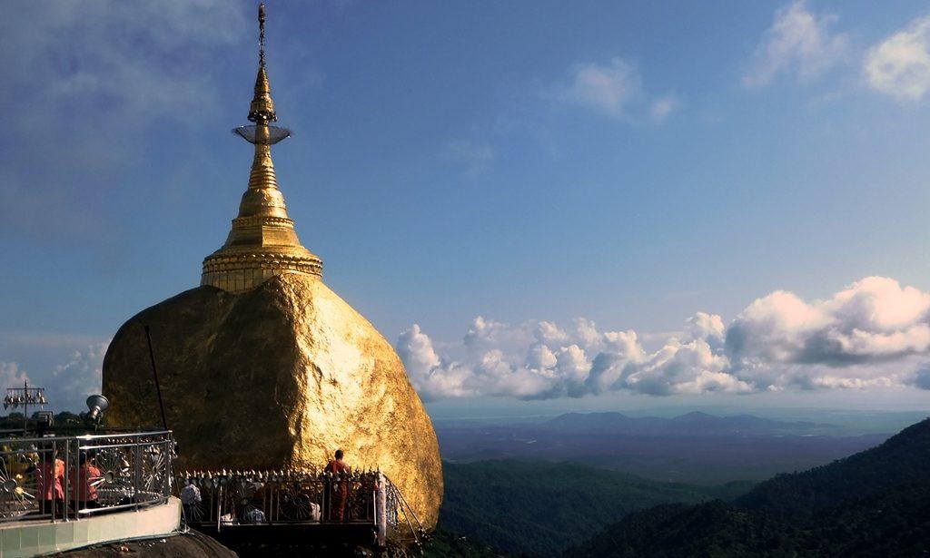 The Kyaiktiyo (Golden Rock) Pagoda in Myanmar, part of the photo blog of Myanmar collection