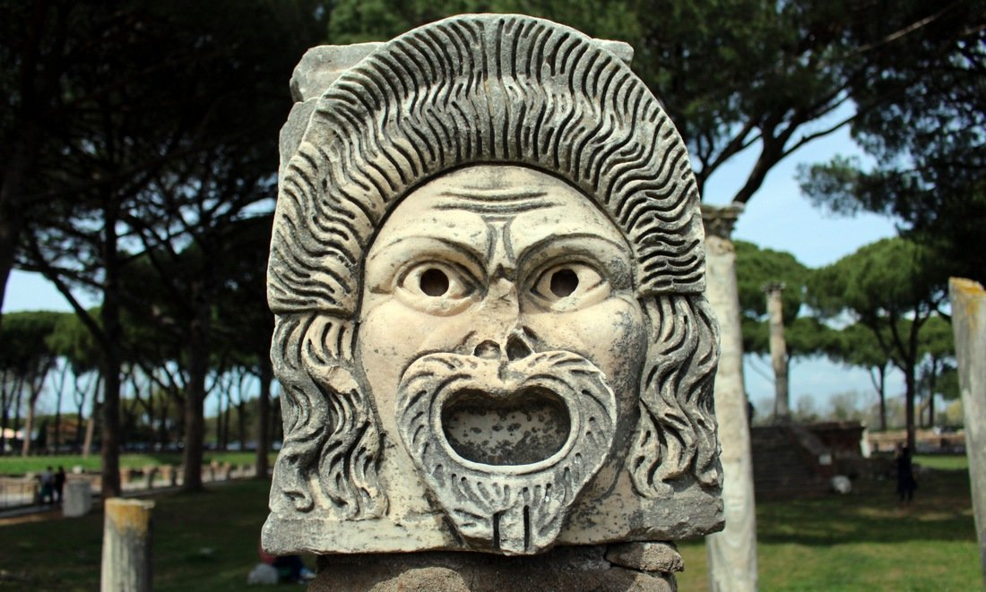 The medusa head at the Ostia Antica ruins