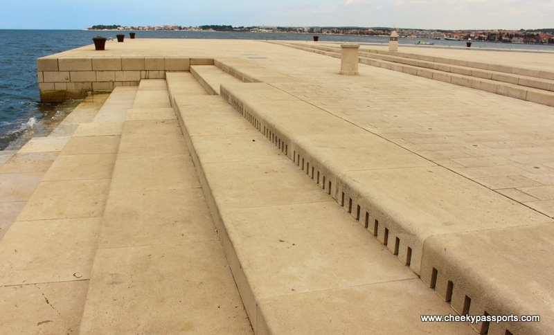 a series of steps on the waterfront making up the sea organ - The Northern Dalmatian Coast - a Visit to Zadar
