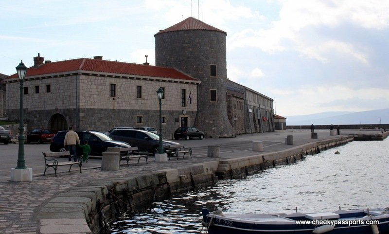 The waterfront on the coastal town of Senj
