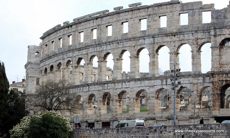 A section of the Pula amphitheatre - Treasures of Istria