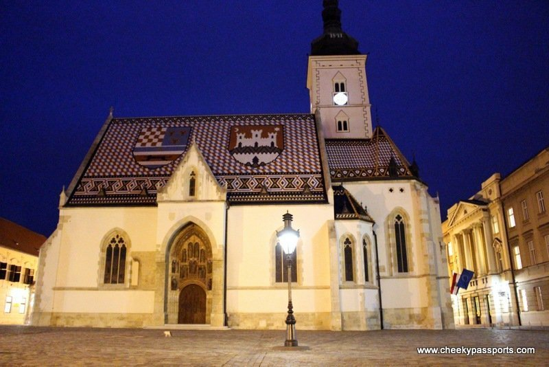 St. Mark's church with the beautifully tiled roof showing Croatia's colours - Visit Zagreb