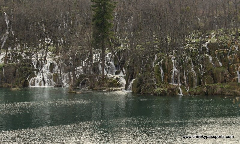 rocks and with several small waterfalls - Plitvice lakes National Park