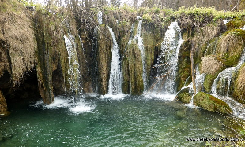 a series of waterfalls at the Plitvice lakes National Park