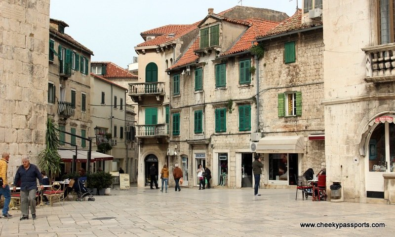 a little square in the old part of Split - a good reason to visit split