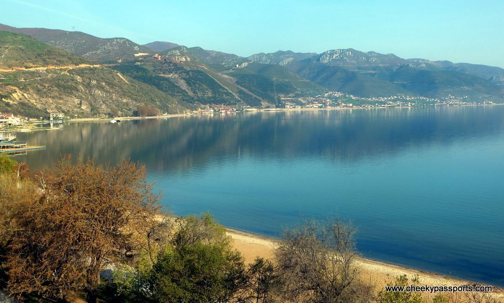 Lake Ohrid surrounded by mountains, Pogradec