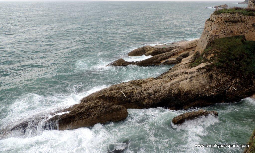 Rough seas battering the coast around Ulcinj - a gem in coastal Montenegro