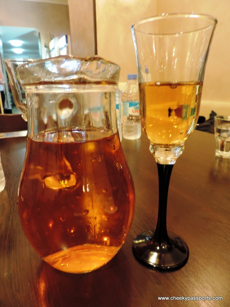 Strong homemade wine from Mestia