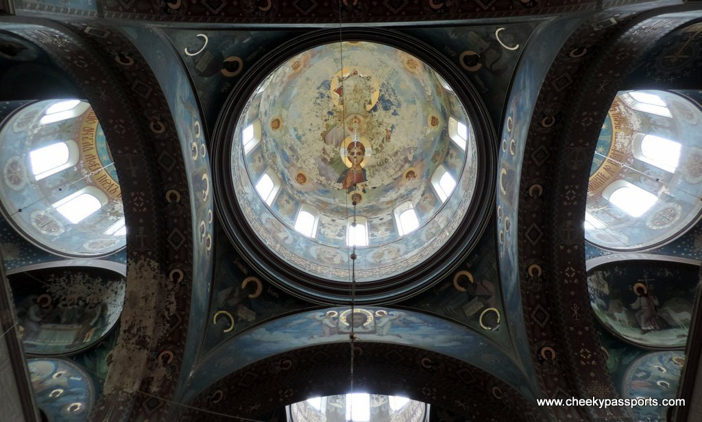 Monastery ceiling - Visiting Abkhazia