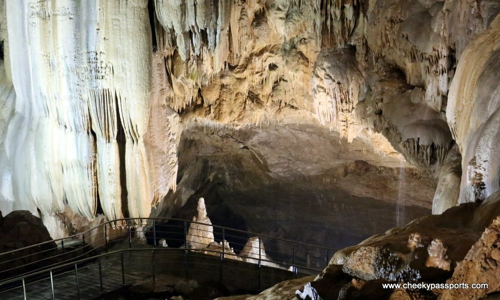 Rock formations inside the caves - planning a trip to Abkhazia