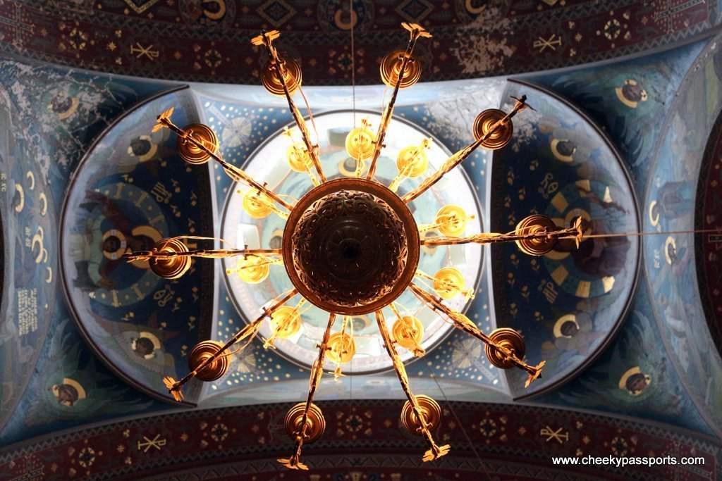 The ceiling at the New Athos Monastery in Abkhazia