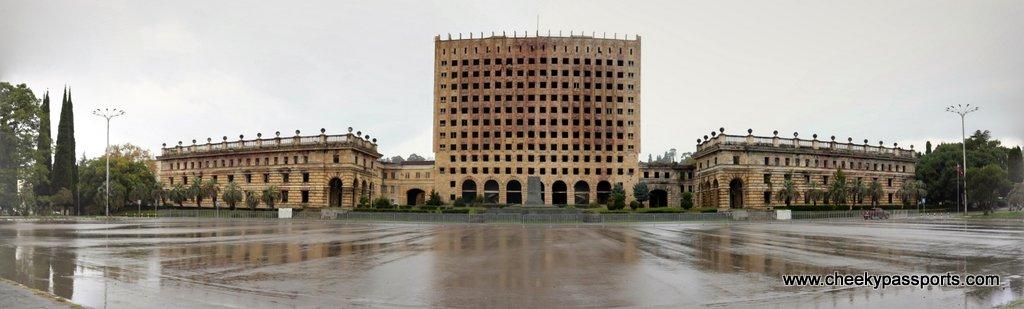 Abkhazia former parliament building - Visiting Abkhazia