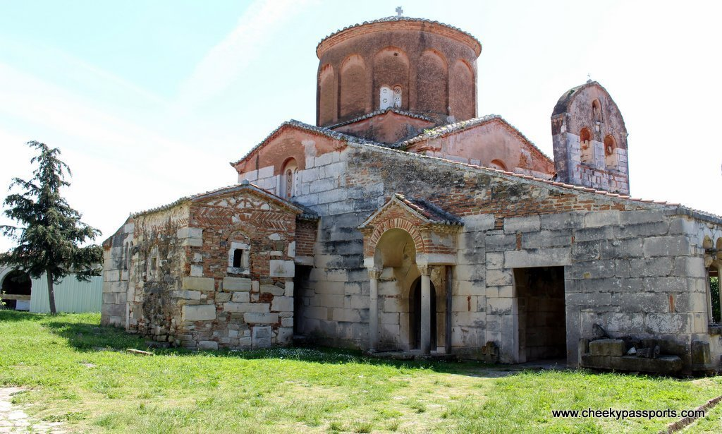 The monastery at Apollonia surrounded by fields - A Picnic in ancient Apollonia Albania