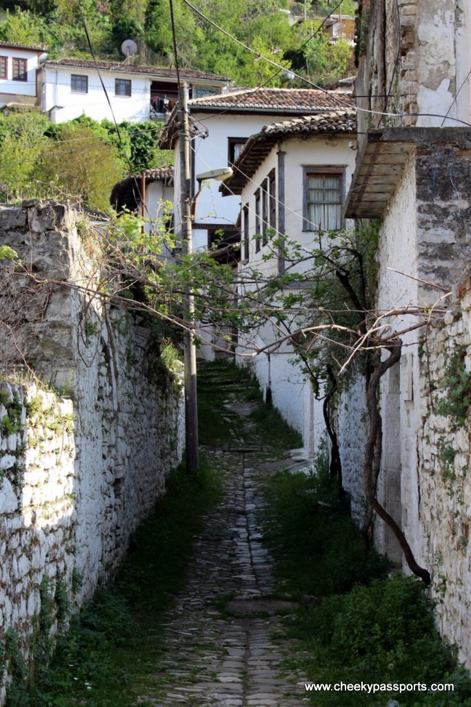 A little lane in the old part of Berat