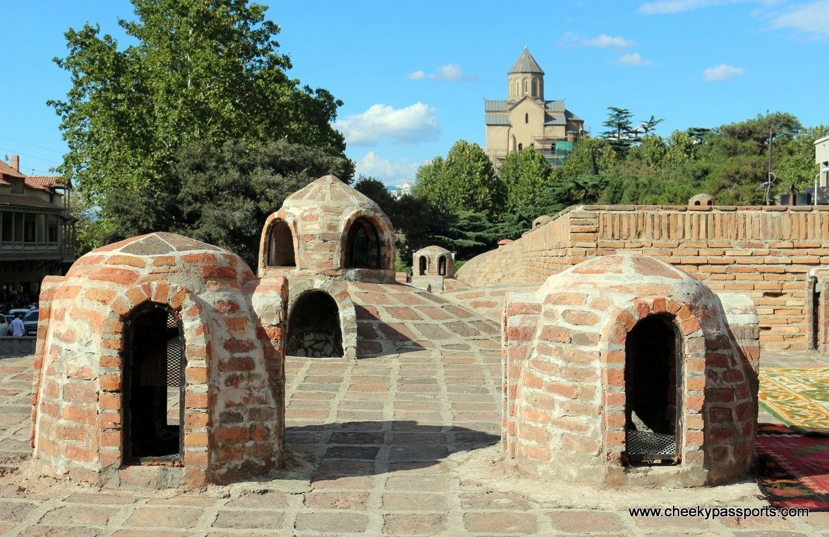 The little domes of the sulphur baths in the Abanotubani region of Tbilisi - things to do in georgia, europe