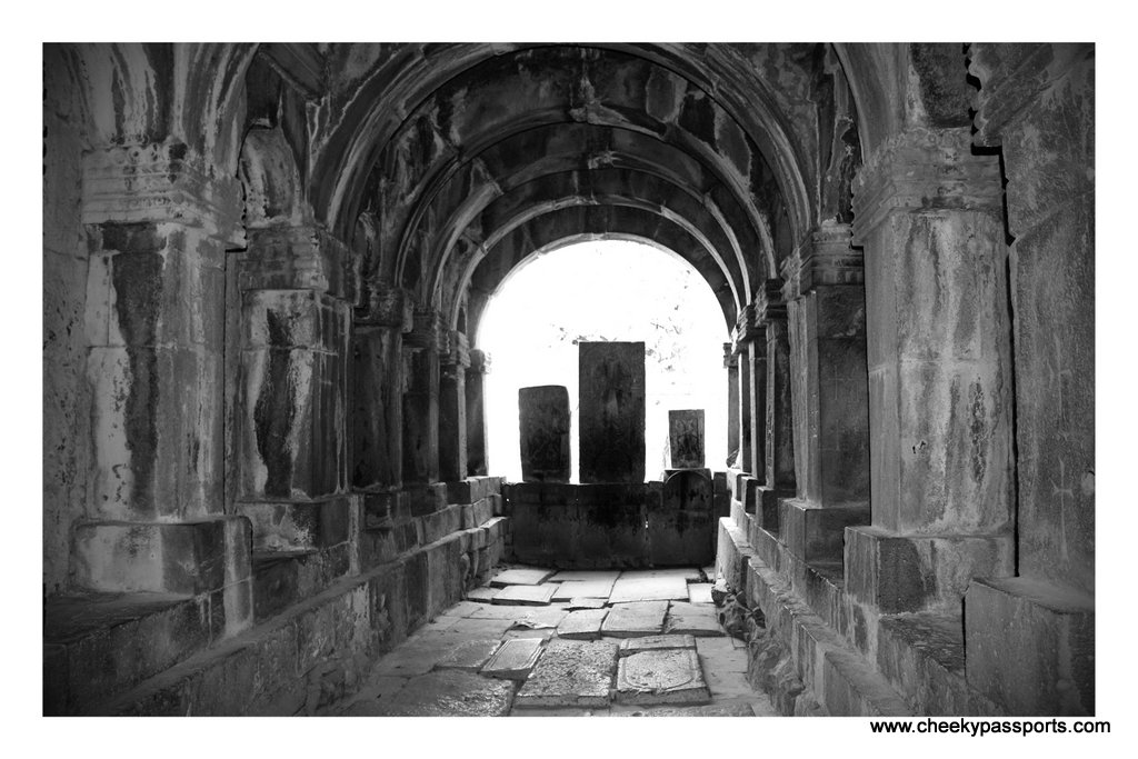 Inside the dark Sanahin Monastery, , amongst the top places to visit in Armenia