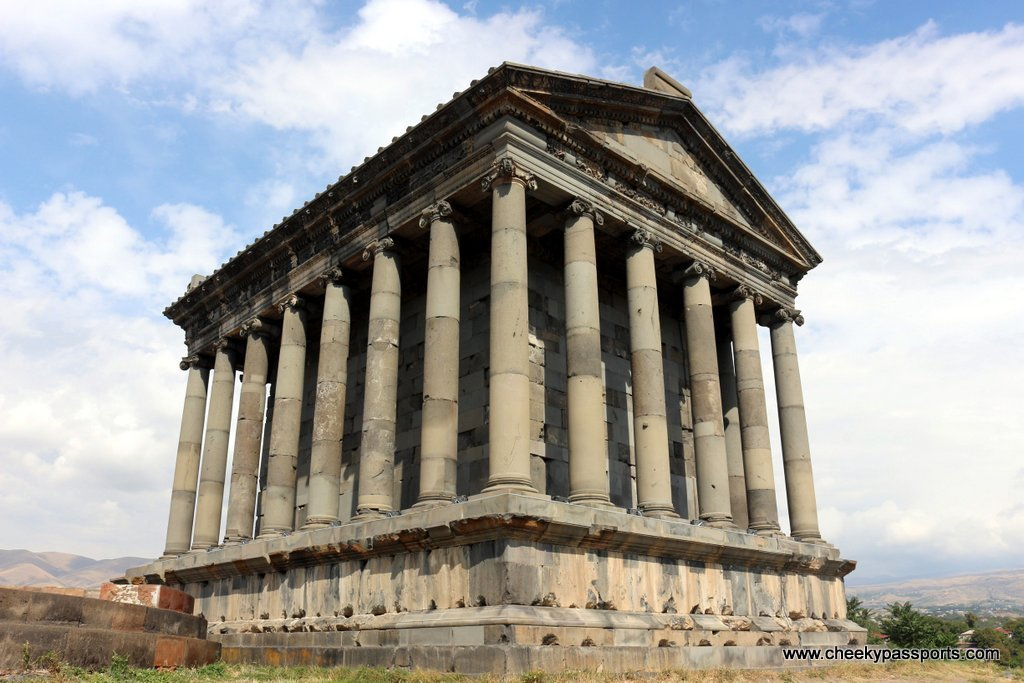 The pagan temple of Garni stands proudly