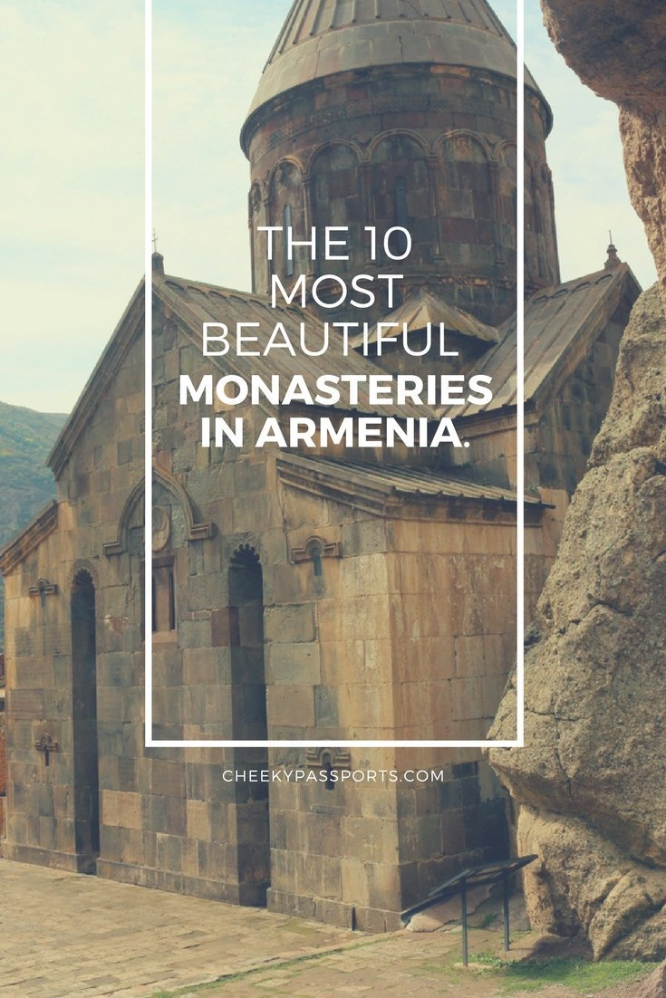 10 most beautiful monasteries in Armenia - The Caucasian country of Armenia is full of scenic spots, but what really sets it apart are the beautiful monasteries in Armenia located in remote areas.#armenia #visitarmenia #monasteriesinarmenia #beautifularmenia #monastery #travel #traveladdict