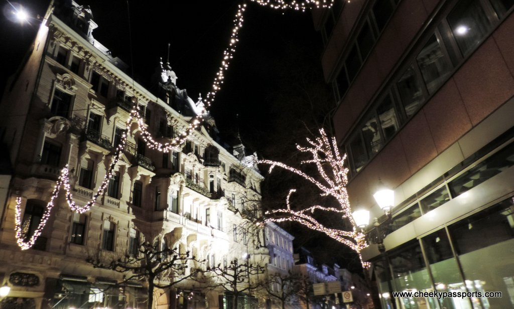 The streets of Baden Baden at night