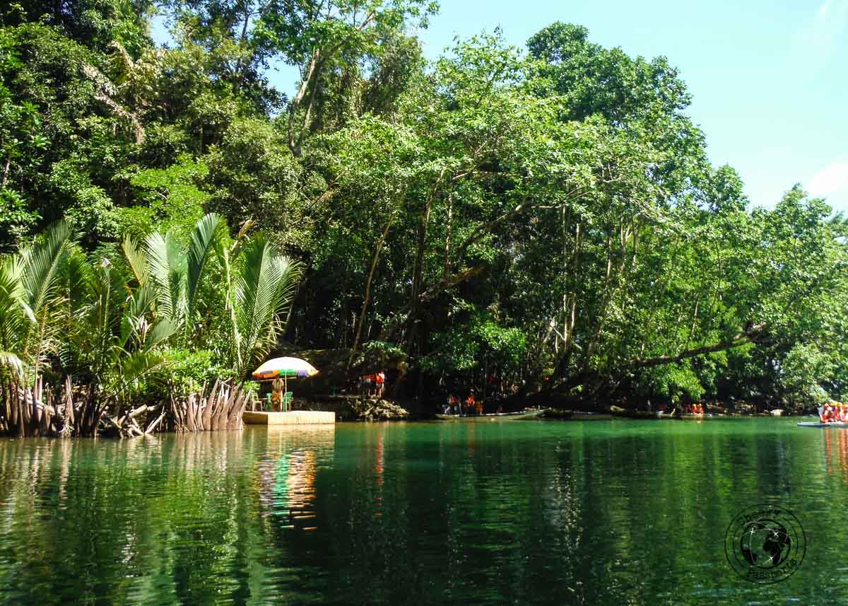 the lagoon at entrance to the Puerto Princesa Underground River