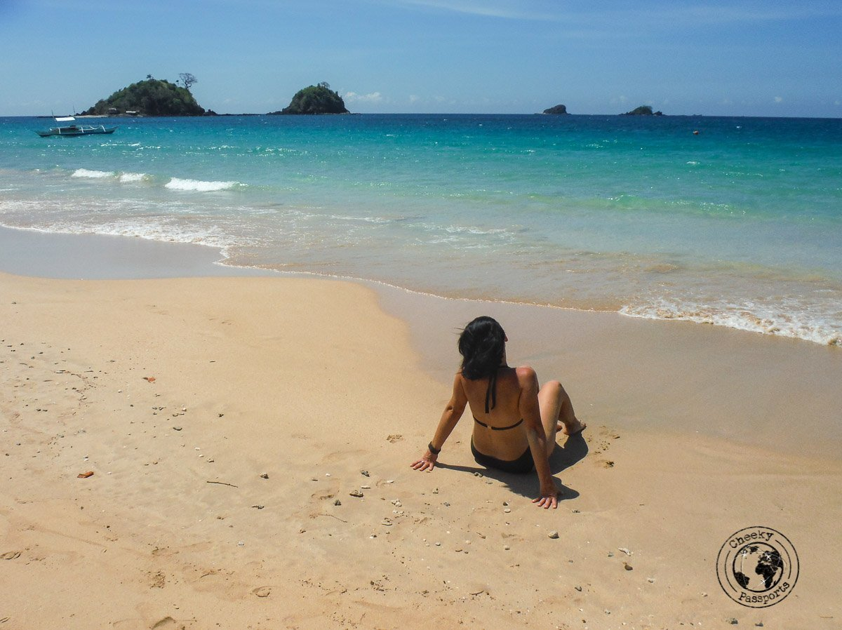 El Nido Itinerary - michelle enjoying nacpan beach