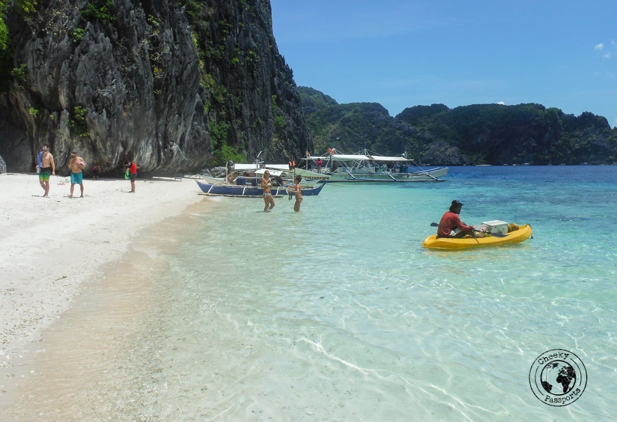 El Nido Itinerary - view of the beach talisa beach