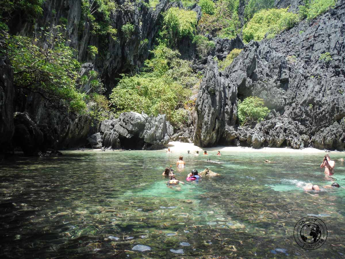 El Nido Itinerary - the inside view of secret beach on one of the el nido boat tours