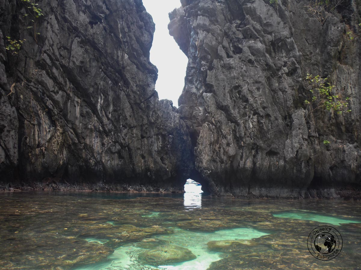 El Nido Itinerary - entrance to secret beach on El nido boat tours
