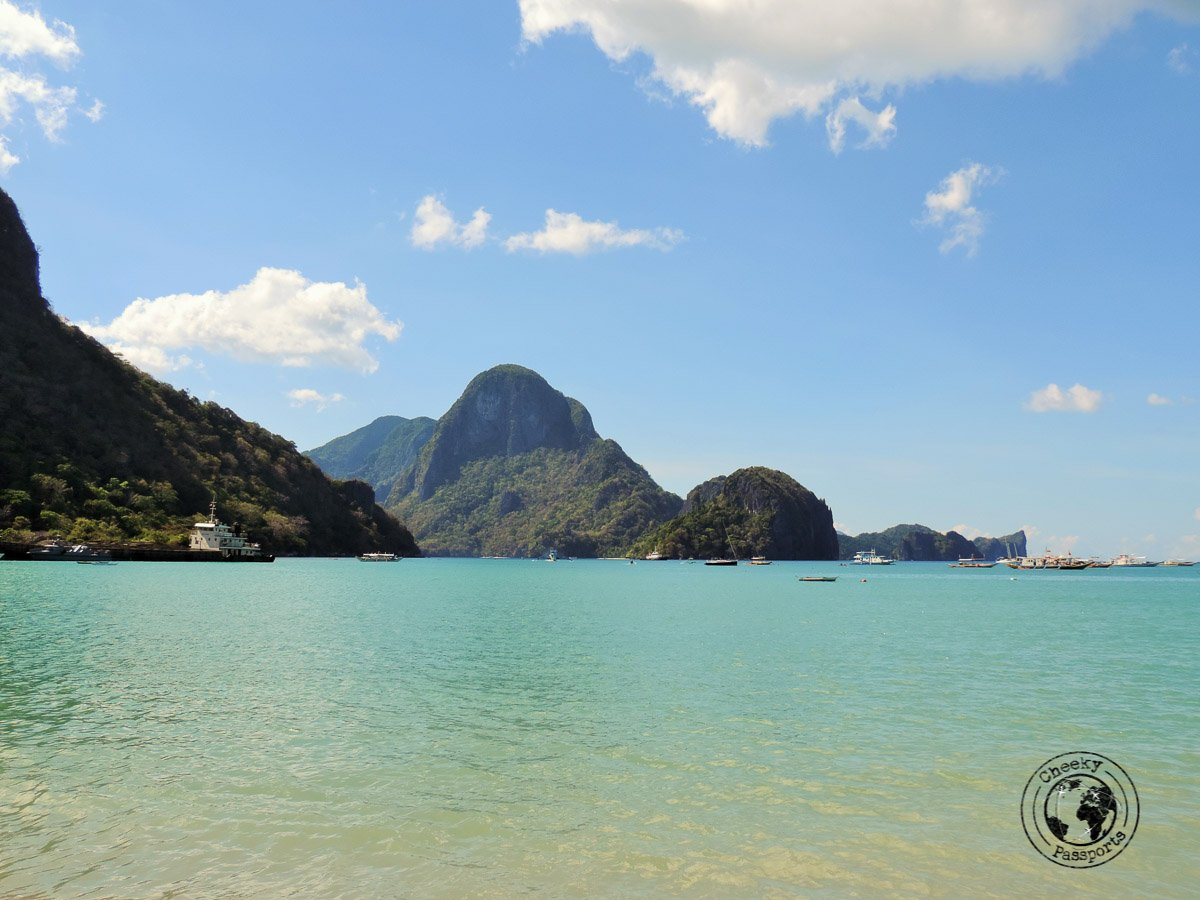 three days in el nido - view from el nido beach