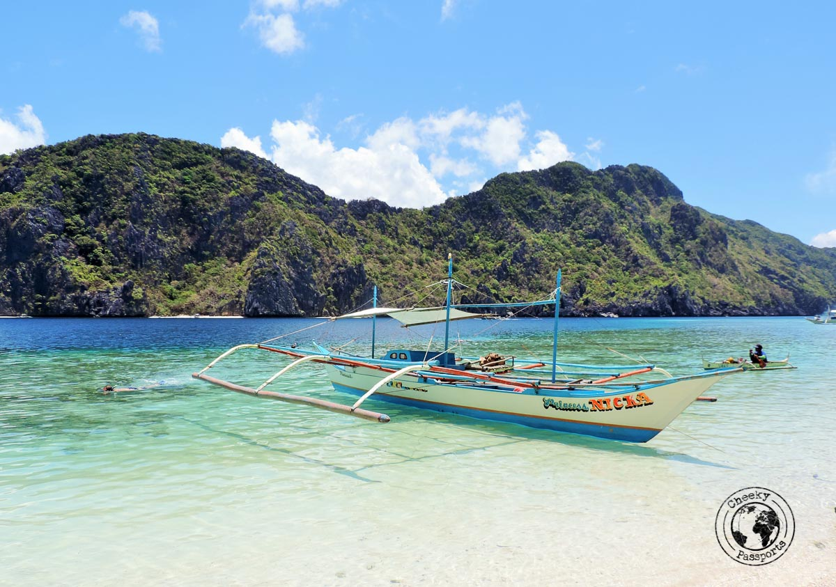 three days in el nido - one of the bankas used for the island tour