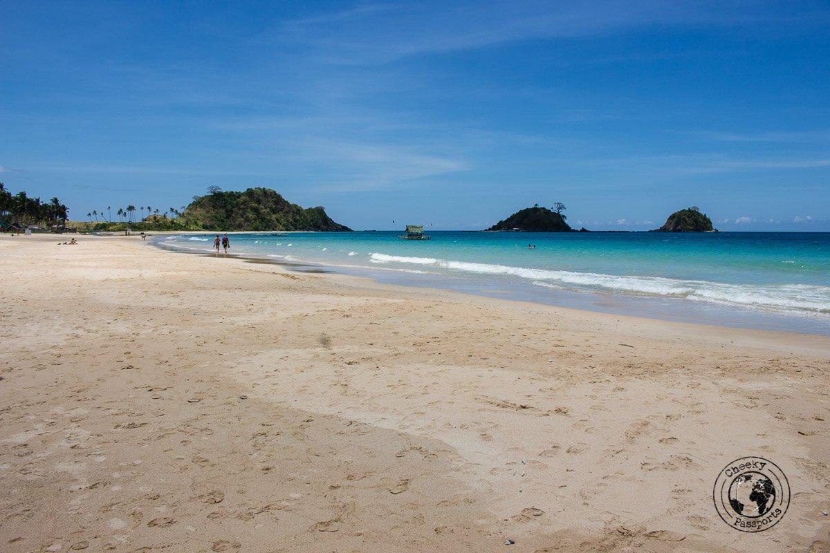 El Nido Itinerary - Nacpan beach view of the islands