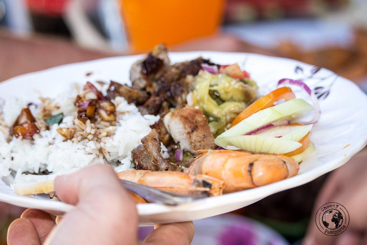 El Nido Itinerary - food served on El Nido boat tours